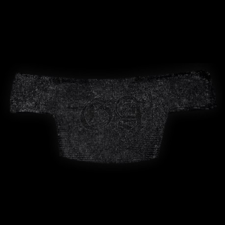 Demi Haubergeon 9mm anneaux plat rivet rond. noir