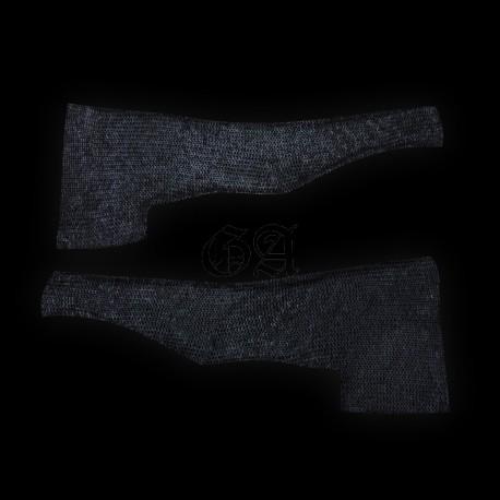 Manches de maille 9mm anneaux rond rivet rond. noir